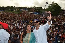 Seeking Song Arjun Ral Aishwarya Rajesh And Sajid Ali Seek The Blessings Of
