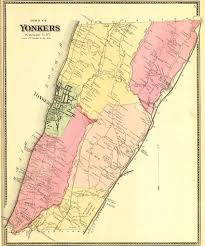 Yonkers New York Map by 1867 Atlas
