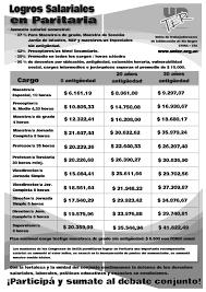sueldos de maestras de primaria aos 2016 composición aumento salarial paritaria 26 febrero 2016 unter