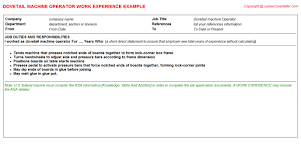 Sample Resume For Machine Operator Position by Independent Chocolatier With Dove Chocolate Discoveries Cv Work