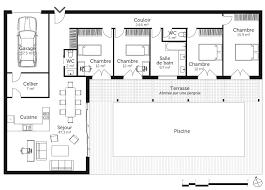 chambre enfilade plan maison avec 4 chambres et garage ooreka