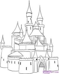castle coloring pages cartoon disney palace drawing free