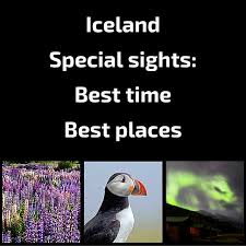 best time to visit iceland northern lights puffins weather