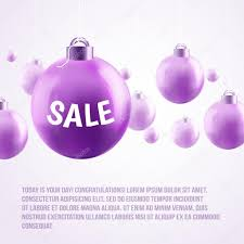 purple baubles sale stock vector sabelskaya 56053359