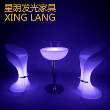 Led Outdoor Furniture - led light bar stool pe rotomolding outdoor furniture stylish bar