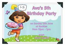 dora the explorer birthday cards for children ebay