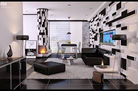 black and white living room with teal design home design ideas