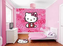 amusing kitty wallpaper kids girls small bedroom