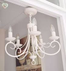 Shabby Chic Lighting by 5 Arm Ceiling Light Chandelier Metal Ceiling Light Hand Painted