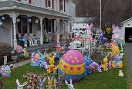 Handmade Easter Yard Decorations by Easter Decorations For Outside Easter Egg Inflatable Light