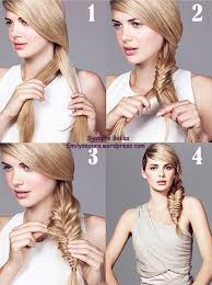 easy hairstyles with box fishtales 4 step tutorial fish tale braid pulled out for a bigger look