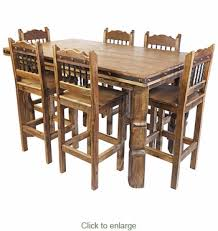 Counter Height Dining Room Furniture Wood Counter Height Dining Table Set With 6 Bar Stools