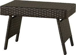 Outdoor Side Table Rattan Varick Gallery Ellington Circle Outdoor Foldable Wicker Side Table