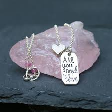 you necklace images All you need is love sterling silver pendant necklace jpg