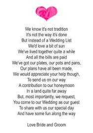 wedding gift poems wedding invitation poem for money yourweek d5dc08eca25e