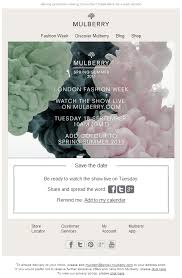 Digital Save The Date Campaigns We Like Mulberry Stays Step Ahead On Digital Catwalk