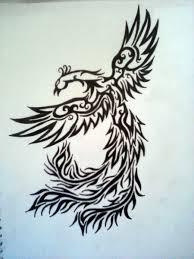 phoenix tribal tattoo design by magpievon on deviantart