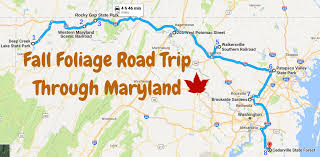 Maryland State Parks Map by The Ultimate Fall Foliage Road Trip Through Maryland