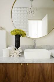 to da loos large round mirrors in the bathroom my latest obsession