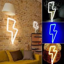 online shop thunder shape wall light hanging lights lightning usb