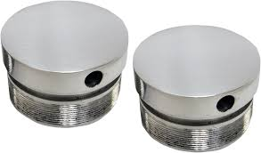 la choppers chrome pair 49mm fork tube caps 06 17 harley davidson
