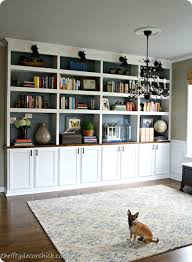 bookshelves in dining room built in bookshelves with cabinet below diy bookcases dining room