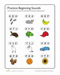 c is for cup review beginning sounds worksheet education com