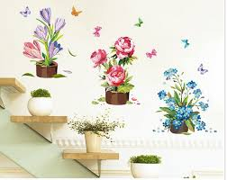 Home Decoration Online Shop Online Shop Butterfly Terrace Decorative Potted Wall Stickers Home