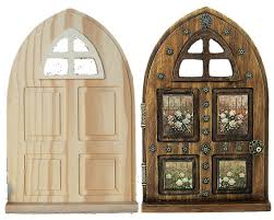 Halloween Usa Brighton Mi by Fairy Garden Door Wood Panel Window Arch Diy Unfinished Gift