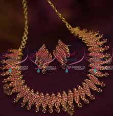 ruby necklace set images Nl8358 ruby link gold design fancy necklace party wear jewellery JPG