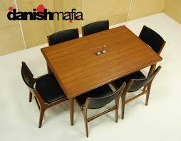 mid century modern teak dining room table dining room decor