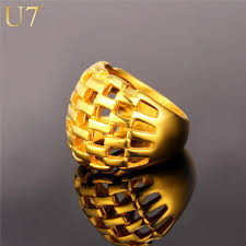 mens golden rings images U7 big ring men jewelry wholesale gold color 21mm wide hollow jpg
