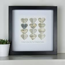 wedding gift personalised silver wedding anniversary gift personalised silver heart
