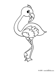 cute flamingo coloring nice bird coloring sheet
