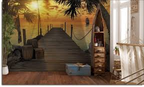 treasure island dock mural 8 918 treasure island wall mural roomsetting