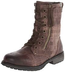 buy combat boots womens amazon com s providence combat boot brown 6 m us