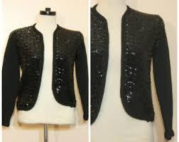 Gold Sequin Cardigan Sequin Cardigan Etsy