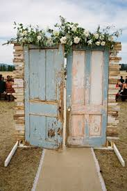 wedding arch using doors greenough montana wedding by habitat events montana wedding