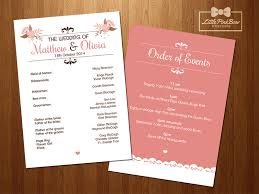 order wedding programs wedding program printable wedding party names and order of