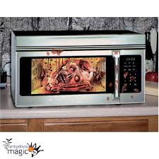 zombie head skull horror gory halloween microwave door cover prop