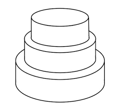wedding cake outline cake templates wedding plans