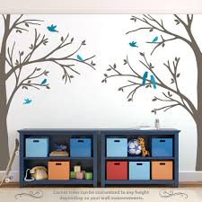 wall decal corner trees woodland nursery decor