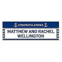 Wedding Congratulations Banner Personalized Medium Rustic Wedding Vinyl Banner