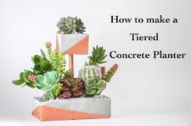 Concrete Succulent Planter Tiered Diy Concrete Planter With Copper Pipe Anika U0027s Diy Life