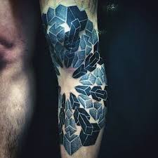 3d geometric knee tattoos for guys tattoo joelho pinterest