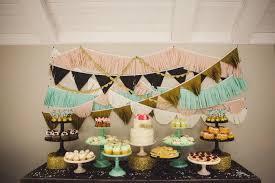 Bridal Shower Dessert Table Tissue Fringe Garland Baby Shower Decorations Dessert Table