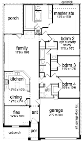 new american house plans narrow plan with covered back porch hwbdo59045 new american gif