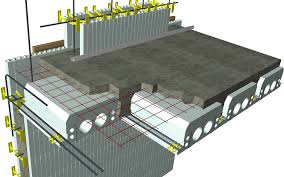 icf roof u0026 quad deck pitched roof wall perpendicular to panels
