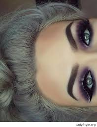 make up tips for salt and pepper hair amazing purple eye makeup and grey hair ladystyle
