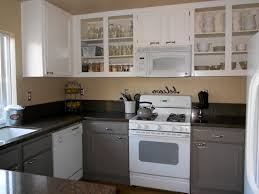 Painted Wooden Kitchen Cabinets Kitchen Attractive Grey Cabinets 2017 Including How To Paint